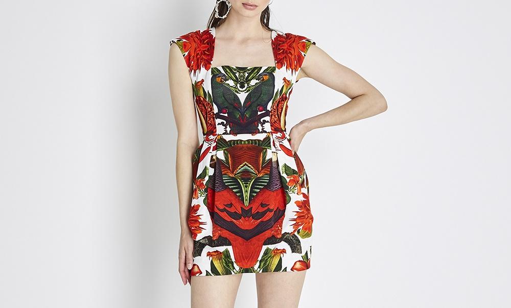Paarrot women's mini dress